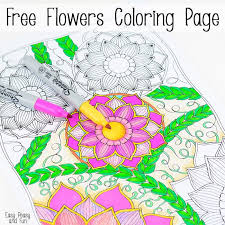 easy peasy coloring page flowers coloring page easy peasy and fun