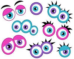 printable girly photo booth props girly monster eyes digital clip art cute monster eyes girlish