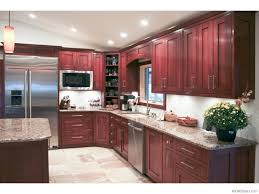 miller s custom cabinets excelsior springs mo cherry kitchen cabinets with gray wall and quartz countertops ideas