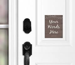 custom door magnet no soliciting door sign do not ring