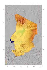 Africa Physical Map by Detailed Physical Map Of Chad Chad Africa Mapsland Maps Of