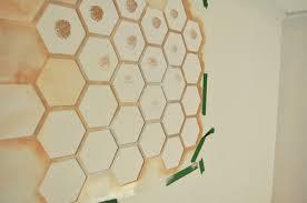 honeycomb wall stencil diy step 1 to a girly nursery