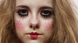 Broken Doll Makeup Halloween How To Do A Scary Doll Look Youtube