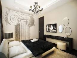 fascinating apartment bedroom decor with black white bed upper