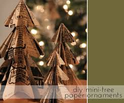 diy mini tree paper ornaments the sweetest occasion