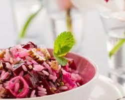 cuisine minceur recette salade de riz minceur à la betterave et au thon