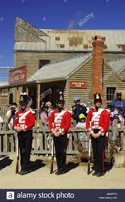 Ballarat Flag Red Coats Sovereign Hill Ballarat Victoria Australia Stock Photo