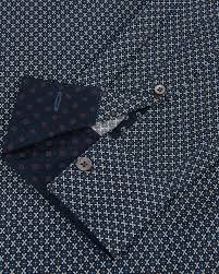 Target Bakers Rack Ted Baker Wowwee Target Print Shirt In Blue For Men Lyst
