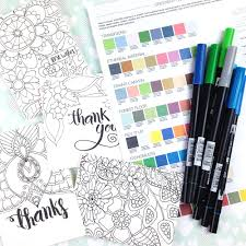 how to choose colorful combinations with your tombows tombow usa