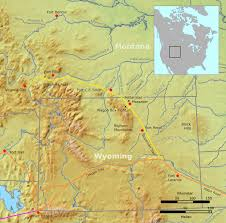 Map Of Wyoming And Montana by Bozeman Trail Wikipedia