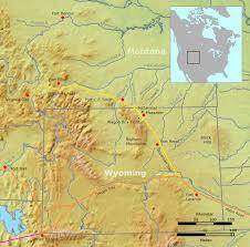A Map Of Montana by Bozeman Trail Wikipedia