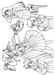 14 sailor moon color pages images sailors