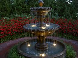 Garden Fountain Amazing Garden Fointains Lowes Lighted Outdoor - Pond lights home depot