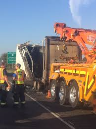 semi truck i 65 southbound reopens near edinburgh after semi truck fire fox59