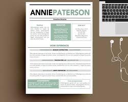 Creative Resume Word Templates Free Creative Resume Template Modern Cv Word Cover Lette Saneme