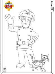 fireman sam print colour abc kids