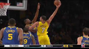 nance s mustard lakers vs warriors larry nance dunks on kevin durant