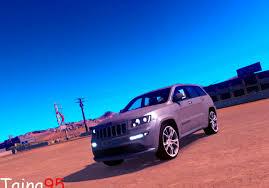 blue jeep grand cherokee srt8 jeep grand cherokee srt8 mod american truck simulator mod ats mod