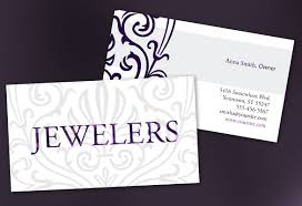 business card template for jewelry and retail store order custom