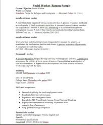 Sample Of Social Worker Resume by Social Worker Resume Sample Resumedoc