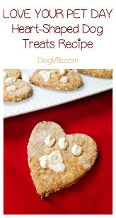 heart shaped crackers heart shaped dog treats recipe for your pet day