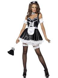 French Maid Halloween Costumes Ladies Fever Flirty French Maid Costume Cleaner Servant Fancy