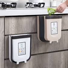 wall hung kitchen cabinets kitchen cabinet door hanging trash foldable garbage bin can