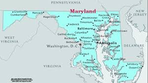 map of maryland with cities maryland speedtrap org