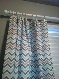 Yellow Nursery Curtains by Blue Chevron Curtains Grey White U0026 Blue Half Chevron Window