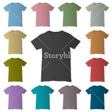 vector t shirt design templates in various colors royalty free