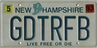 New Hampshire Vanity Plate Your Vanity Plate Photos Boston Com