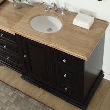 bathroom vanity sink on left side silkroad exclusive 56 single