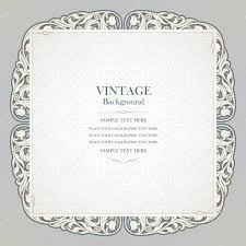Invitation Card Cover Vintage Background Elegant Wedding Invitation Card Victorian