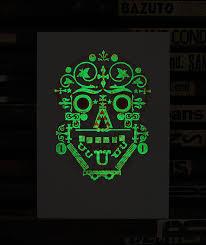 Dark Posters Day Of The Dead U0027 Glow In The Dark Letterpress Print