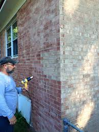i used brick stain to update our old yellow brick my house