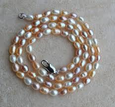natural pink pearl necklace images 100 real pearl necklace small size 3 4mm white pink purple color jpg