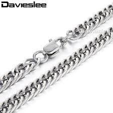 wholesale steel necklace chains images 6mm mens chain silver cut double curb rombo link stainless steel jpg
