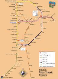Mass Map Manila Mass Transithere Philippines