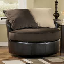 Leather Black Living Room Swivel Chair Furniture Magnificent Outlaw Oversized Swivel Chair With