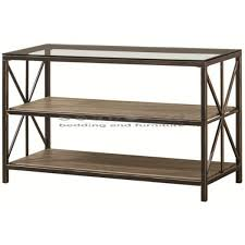 Black Sofa Table Coaster 701129 Rustic Industrial Roller Cart Sofa Table