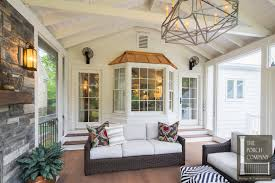 covered porch pictures screened porch and garage oasis the porch companythe porch company