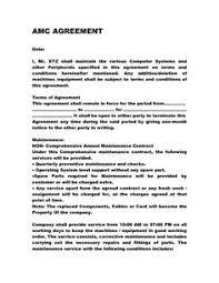 hvac service u0026 maintenance contract template with sample