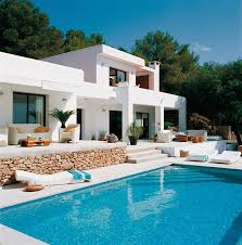 mediterranean house plans with pool pool house with mediterranean style in ibiza spain