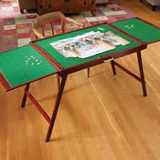 jigsaw puzzle tables portable amazon com bits and pieces wooden fold and go jigsaw table