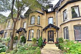 Brick Homes by Stretch Of Yellow Brick Victorian Homes In Cabbagetown Toronto