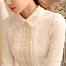 sleeve lace blouse pointed collar sleeve lace blouse floral
