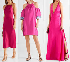 hot pink colour what color shoes with hot pink dress outfit fuchsia magenta dress