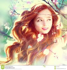 young beautiful blond woman with long hair pretty beauty