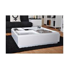 basse carrée brazil 100x100cm blanc laqué