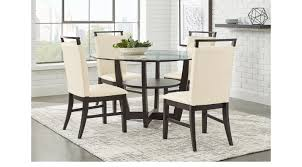 ciara espresso 5 pc dining set glass top contemporary